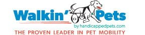 Walkin' Pets by HandicappedPets.com Logo